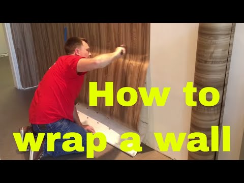 How to install a Di-noc or belbien material wall wrap