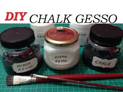 Gesso Giz (Chalk Gesso), como fazer? - DIY - VIDEO