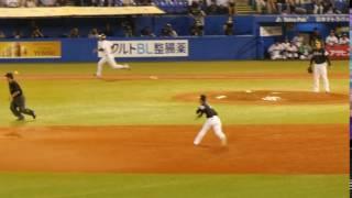 2016年 東京ヤクルトスワローズvs福岡ソフトバンクホークス 明治神宮球場.