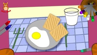 Educational animation for toddlers - How to Draw a Breakfast