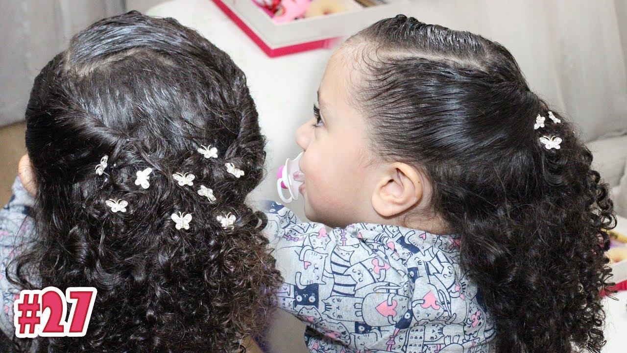 Penteado Infantil Fácil Para Cacheadas Opção Noivinha 27 Sr E Sra Martinez