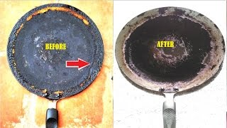 Tip: Cleaning Oil Layer formed Dosa Pan    How to clean dosa Pan/Tawa-How to clean nonstick dosa pan