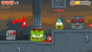 RED BALL 4 Om Nom Ball  (Cut The Rope) Adventure Volume 3 Box Factory with BOSS fights