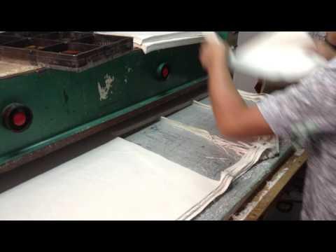 Material Press Cutting Hemp Fabric