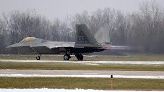 F-22 Raptor Afterburner Takeoffs