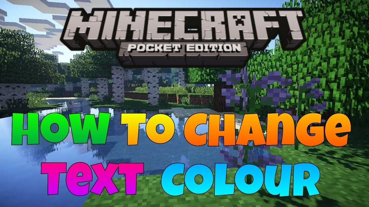 Minecraft Color Text 28 Images Color Text Trick Minecraft Pocket Edition Colored Text In