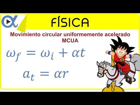 Movimiento circular uniformemente acelerado (MCUA) ejemplo 2 de 5   Física - Vitual