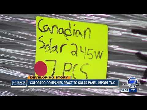 In Colorado, is the solar panel tariff a job creator or killer?