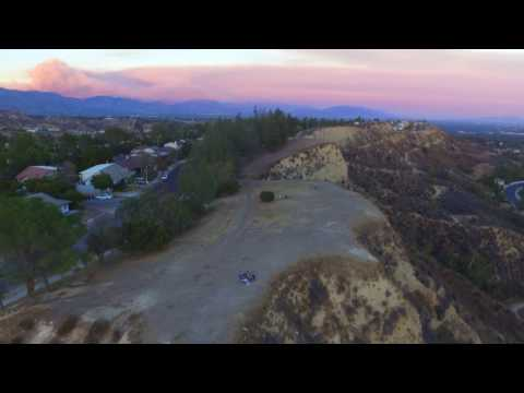 Drone Flight - Sand Fire from Palisades Park, Reseda View, Porter Ranch, California, United States