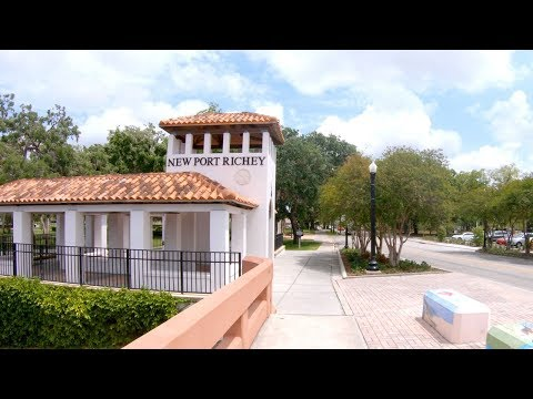 New Port Richey, Florida, USA | Downtown & Sims Park - Walking Tour