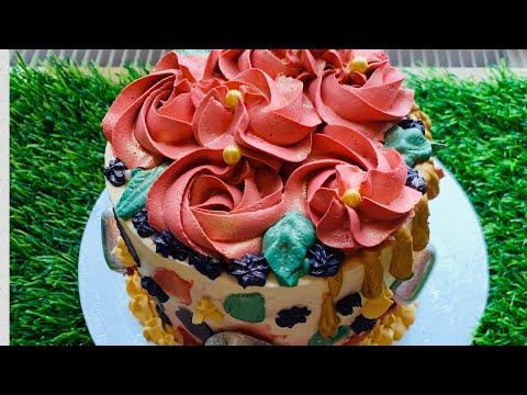 #Cake #Fresh creamwith gould chocolate drops sponge cake spices red  #sylhetibloguk# 12/02/21
