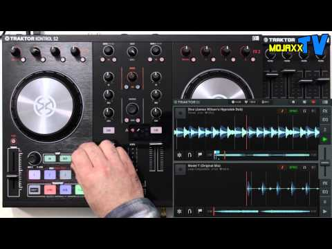 Native Instruments Traktor Kontrol S2 mk2 walkthrough and demo with iOS