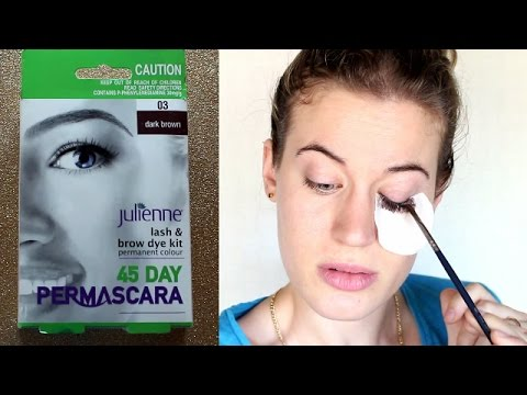 Dyeing your eyelashes and eyebrows l JD Beauty - YouTube