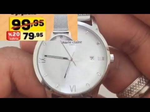 Marie Claire Paris Wrist Watch Unboxing How To Adjust Date,time And Size Of Wrist Watch