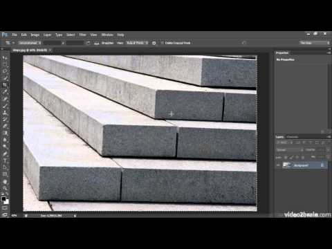 Straightening a Crooked Image [Photoshop CS6]
