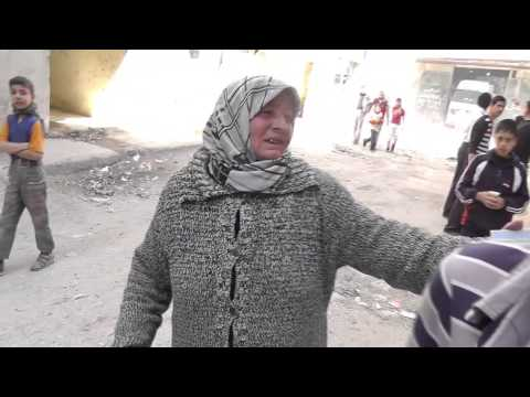 Distributing aid to those in need Aleppo, Syria