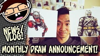 Monthly Draw! Want to win these art prints? Find out how!   Draw it Too Vlog