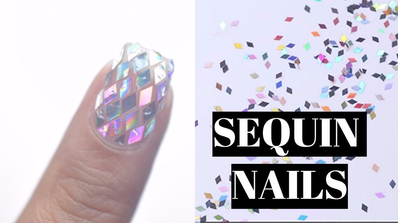 How to do SEQUIN NAILS | Gel SEQUIN NAILS - YouTube