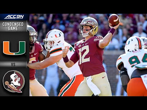 Miami  vs. Florida State Condensed Game | ACC Football (2019-20)