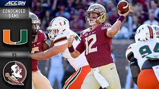 Miami  vs. Florida State Condensed Game | ACC Football (2019-20)