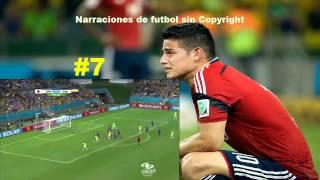 Goles Colombia en Brasil 2014