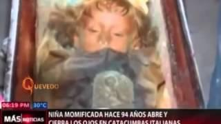 nia momificada hace 94 aos abre y cierra los ojos en catacumbas italianas