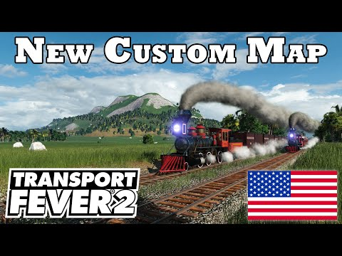 30+ Mods & Custom Map! 🚂 Let's Play Transport Fever 2 | U.S Tropical Island w/ Mods #1 |