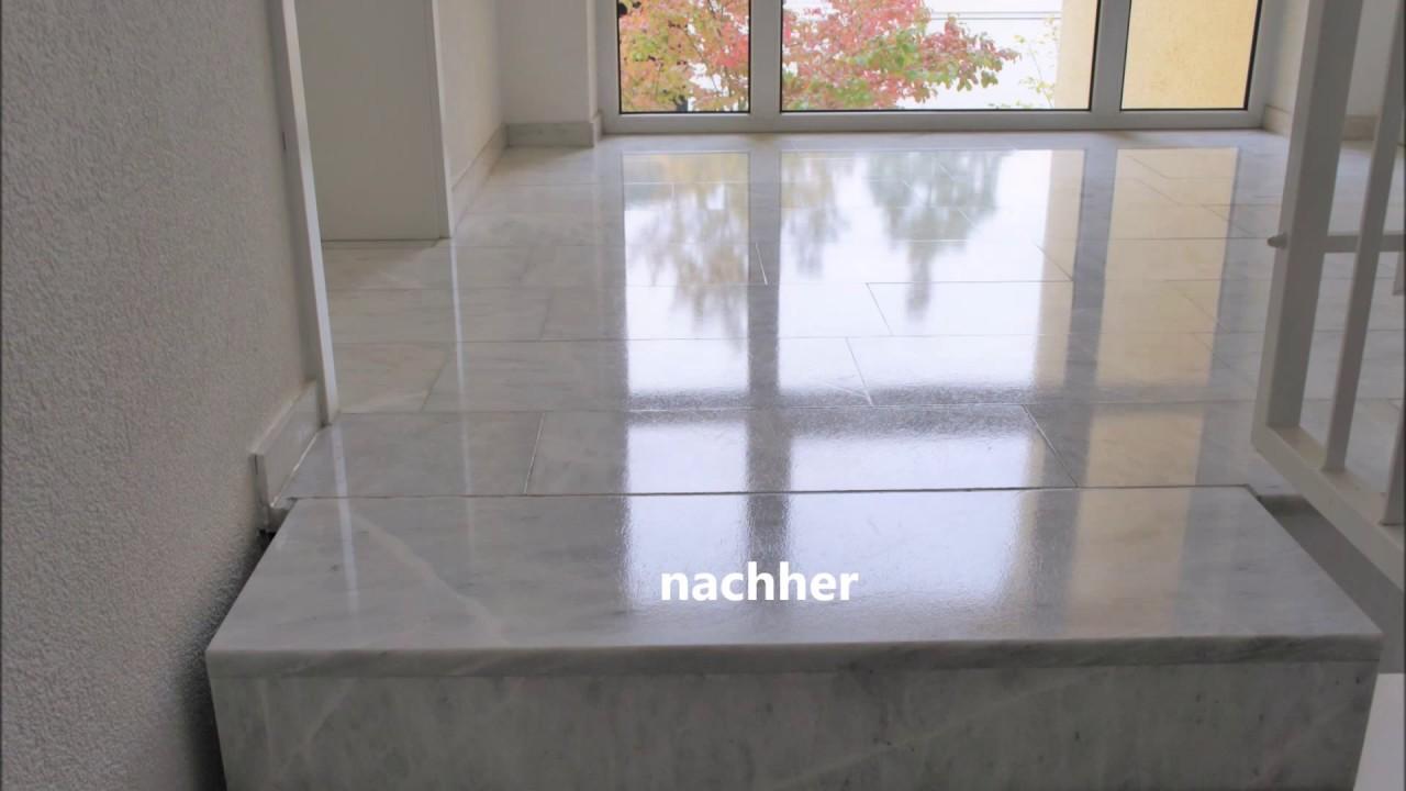 Fesselnde Klepfer Naturstein Galerie Von Marmorsanierung Eines Marmorpodestes Mit Vorher-nachher-vergleich