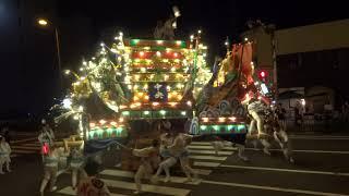 2018.7.15.      枝光本町、中央祗園、各山笠!、中央町で大あばれ!タタカウ!🎆