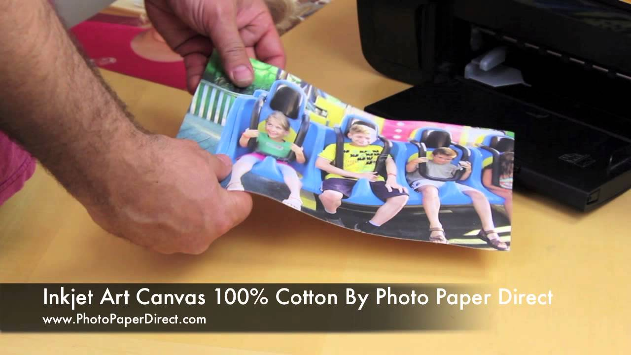 photo regarding Printable Canvas Paper identified as Inkjet Artwork Canvas 100% Cotton By way of Photograph Paper Guide