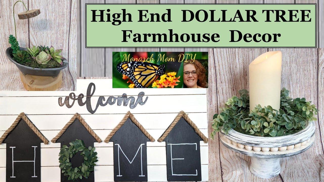Download 🏡HIGH END DOLLAR TREE FARMHOUSE DECOR DIYS 2021❤ #dollartreediy #farmhousedecor