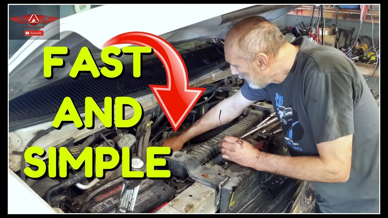 small resolution of ford e 250 belt tensioner and idler pulley replacement