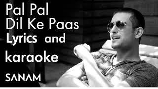Sanam Puri Pal Pal Dil Ke Paas original karaoke with lyrics high quality
