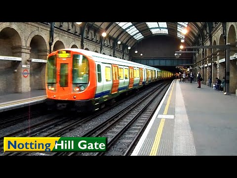 Notting Hill Gate   Circle - District lines : London Underground ( S7 Stock )