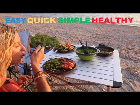 OUTDOORS HEALTHY COOKING - VEGETARIAN campervan dinner