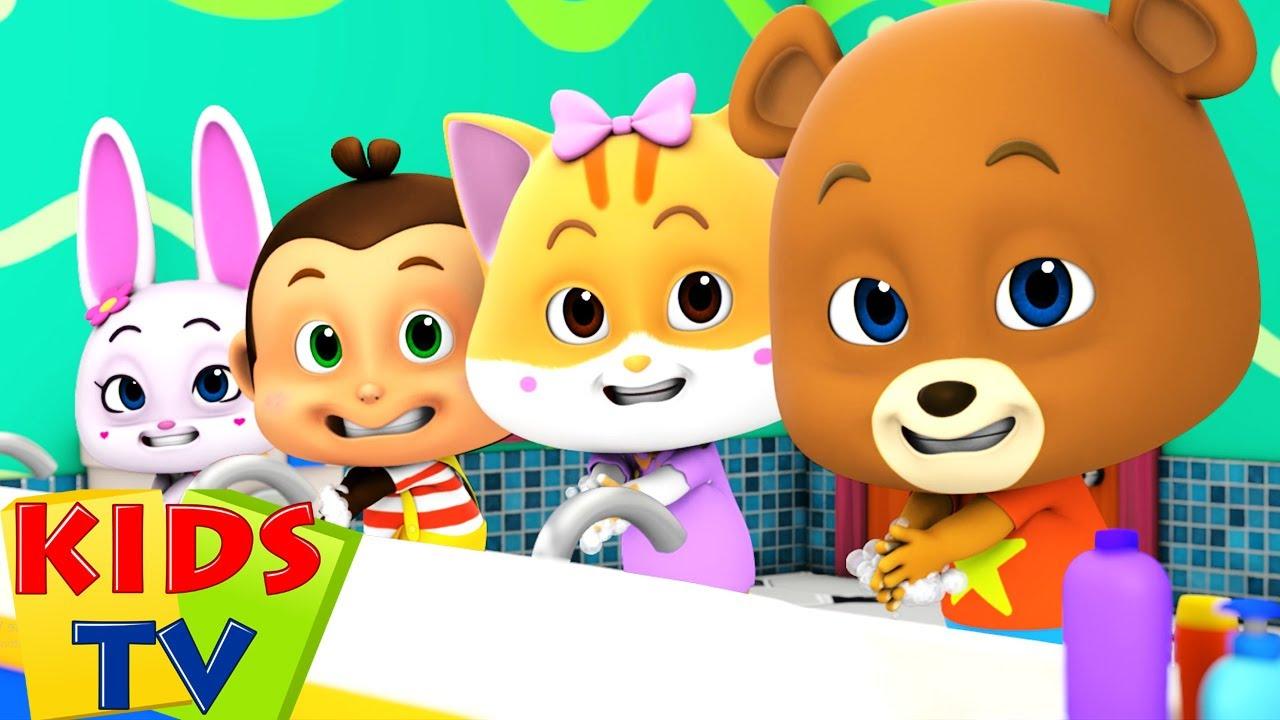 Wash Your Hands   Healthy Habits   Nursery Rhymes & Baby Songs   Loco Nuts Cartoon   Kids Tv