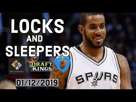NBA 01/12/2019 DraftKings, FanDuel And PrizePicks Locks And Sleepers — Locks DFS
