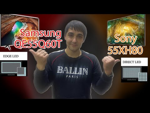 Samsung QE55Q60T против Sony 55XH8096! IPS матрица Direct против VA Edge, какая подсветка лучше?