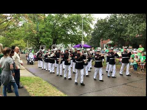 2018 St. Patrick's Day Parade — Marine Corps Band New Orleans