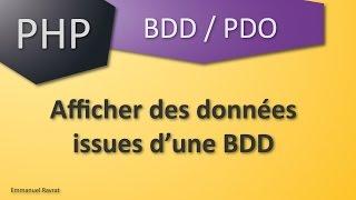 005 - PDO - Afficher des données issues d