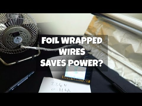 Save power with aluminum foil?
