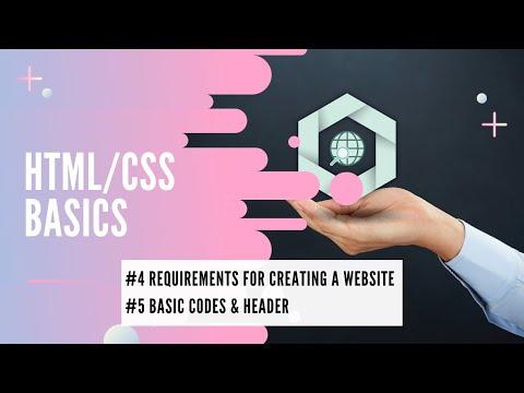 Tools For Creating A Website & Header Codes // Learn HTML & CSS Basics // Web Development Tutorials