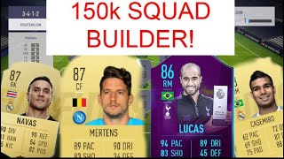 THE BEST 150k TEAMS IN FIFA 19 | FIFA 19 SQUAD BUILDER