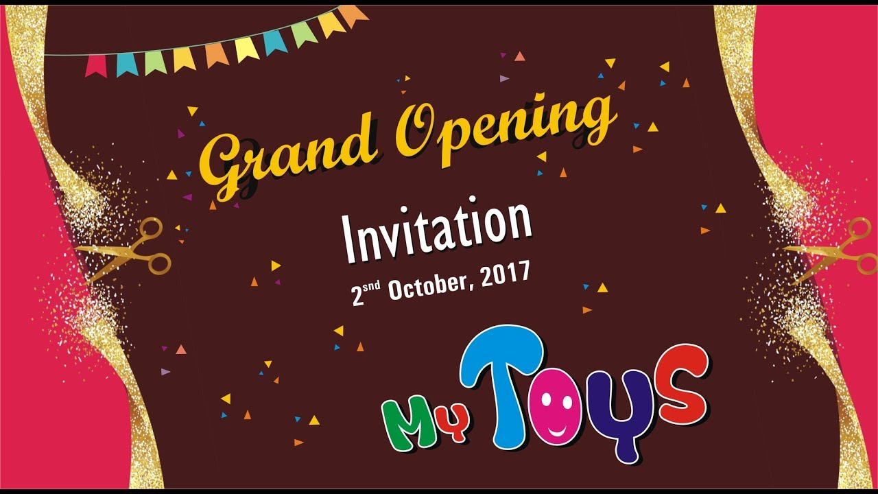 Grand Opening Invitation Card Video My Toys Surendranagar Youtube