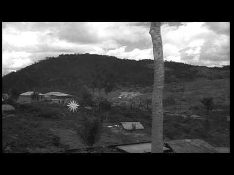 Houses on a hillside in Caracas, Venezuela. HD Stock Footage