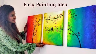 Easy Canvas Painting For Bedroom Decoration 3 Canvas Painting Ideas Diy Easy Diy Home Decor Youtube