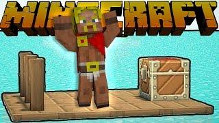 Dansk Minecraft :: FANGET PÅ EN TØMMERFLÅDE!