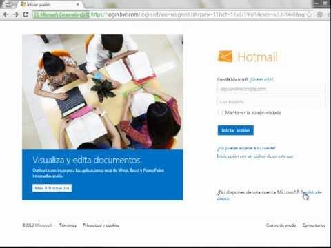 Registrar un correo electronico hotmail.com