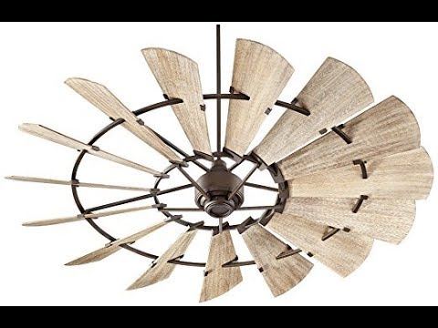 Quorum 97215 86 Windmill Ceiling Fan In Oiled Bronze With