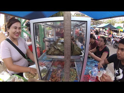 Indonesia Bali Street Food 1812 Part.2 Mix Rice Nasi Campur Ibuk Made Pasar Badung Penampungan